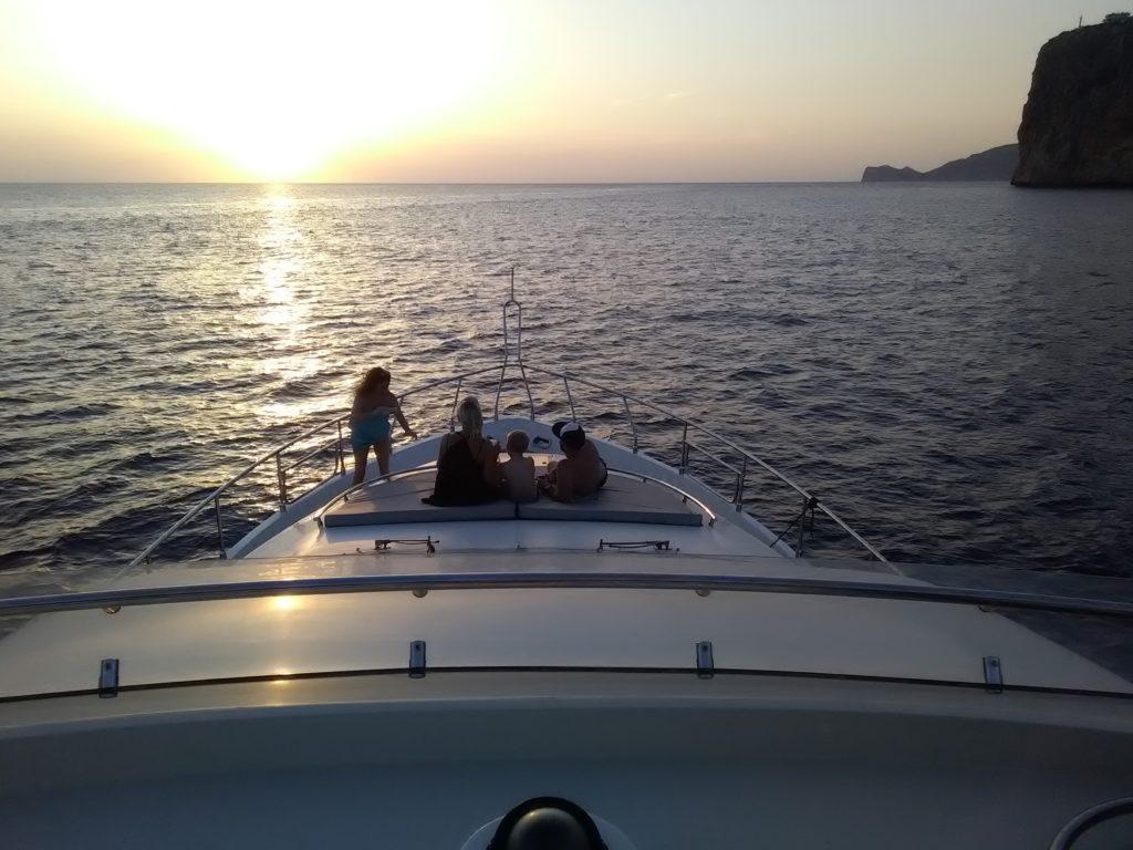 andratx yacht charter sunset