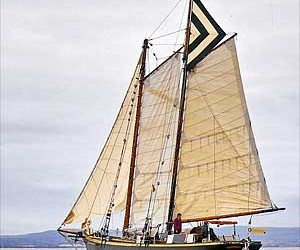 Thumbs Up Yacht Delivery – 60ft Gaff Schooner
